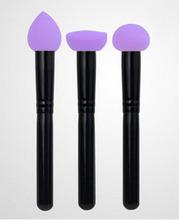 Purple Latex-free Makeup Sponge Makeup Heart Shape Sponge Sticker Applicator Beauty Blender