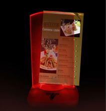 Plastic illuminated led menu for game