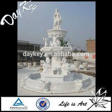 2-tier White Handmade Woman Water Fountain