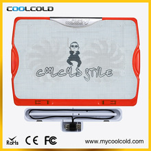 laptop cooling pad , electric fan with ice , no usb laptop cooler pad