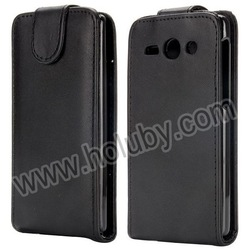 Black Magnetic Vertical Flip PU Leather Case for Huawei Ascend Y530, Up and Down Case For Huawei Ascend Y530 Top Flip Case