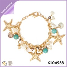 ocean style wholesale gold filled jewelry bracelet jewelry made from seashells