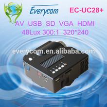 Pico Pocket Projector with HD 3D LED 720P 600 Ansi Lumens 2000mAh Battery