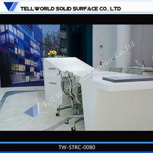 shiny elegant shape tanning salon reception desks