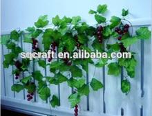 Fake grape cirrus; Plastic grape vines for decoration of holidays in garden