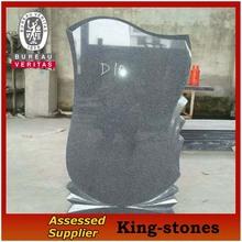 2014 nuevo estilo europeo lápida de granito, dary piedra sepulcral gris para la venta