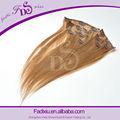 De alta calidad pre- delimitadas sin procesar recta clip en la extensión del pelo