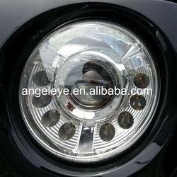 2011-2014 Year Jeep Patriot LED Angel Eyes Head Lamp Black Housing