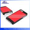 Custom Combo Red PU Skin Cover Mobile Phone Plastic Shell For iPhone 5