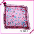 Créateur de la marque sergé 90x90 foulard de soie foulard en soie d'impression numérique