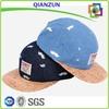 wood grain transfer printing brim 5 panel hat