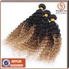 6A grade top quality virgin brazilian hair ombre blonde deep wave brazilian human hair