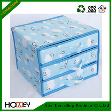 2014 Dongguan Homey 3 Layers Cheap Foldable Plastic Storage Drawers