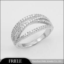 2014 New cross shape Zircon Diamonds Rings Price