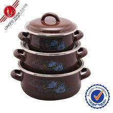 New design factory price eanmel casserole hot pot