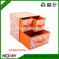 2014 Dongguan Homey impreso plegable no tejido de almacenamiento de tela caja del cajón