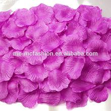 purple wedding decorations rose petals