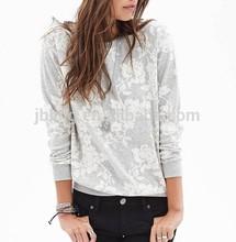 heathered sublimation rose sweater shirt