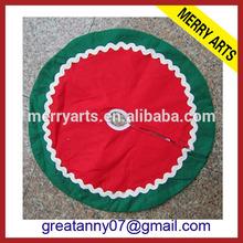 Yiwu China Manufacturers Supplier handmade cheap red and green christmas tree skirt felt
