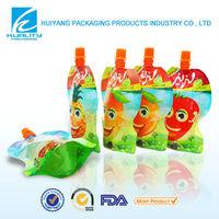custom printing reusable food aluminium foil juice pouch