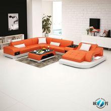 Mexico double sided leather sofa furniture Fancy sofa furniture