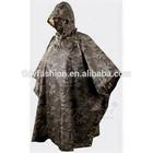 Hooded Long Waterproof Military PVC Men's Rainwear