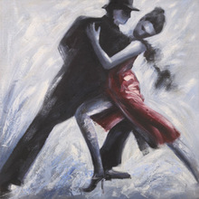modern abstractive waltz dancing oil painting