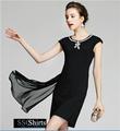 Sscshirts beautiful baratos design100% vestido curto com um trem de comprimento