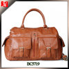 Hot selling lady leather travel luggage bag leather weekend bag