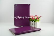 Purple color PU+imitation microfiber case for ipad 5