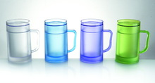 Frosty Freezer Beer Mug - Gel Technology Keeps Drinks Cold & Icy