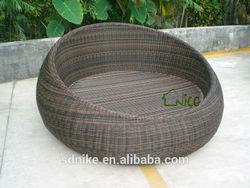 hot sale luxury outdoor rattan dog bed