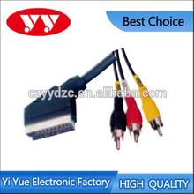 good quality SCART PLUG TO 3RCA plug