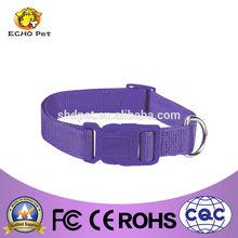 Simple dog pet neck collar in purple