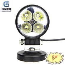 "3"" 12W head lamp LED 4x4 work light for bike,motorcycle JG-810"