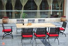 outdoor garden wood GRC table set