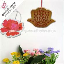 Custom logo wholesale car decoration paper air freshener for promotion