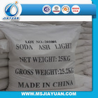 99.2% Soda Ash Light/Dense , 25kg/50kg per bag