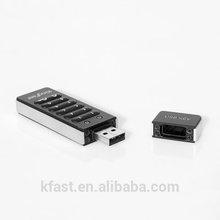 Data protection! KingFast high-tech encryption usb 2.0 drive for military usb flash drive