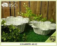 BSCI natural wicker flower garden baskets