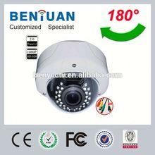 HD SDI 180 Dgree Fisheye CCTV Cameras cctv camera case With Infrared 1080P