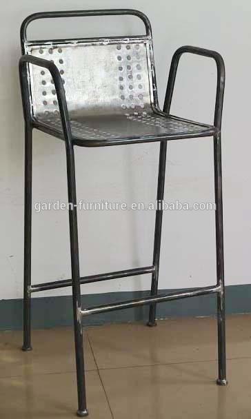 wrought iron barstool footrest bar chair backrest