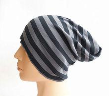 Wholesale fashion stripe magic cotton tube scarf