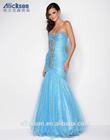 Strapless Sweetheart Floor Length Organza 2014 Sexy Beaded Mermaid Prom Dresses