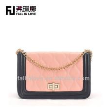 2014 new embroidery fashion design women handbag female bag PU bag manufacture