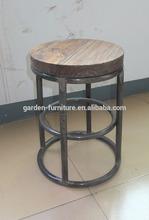 adjustable kitchen counter bar stool / modern adjustable swivel wooden barstool