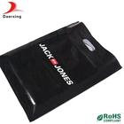 Square bottom full black custom printing plastic ldpe bag for shopping