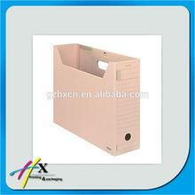 Kraft cardboard desk file box with name column