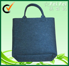 Dark gray 2mm thickness felt shopper