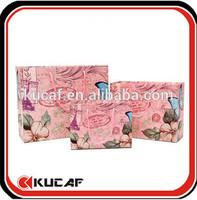 full color pink paper bags natural material paper bag